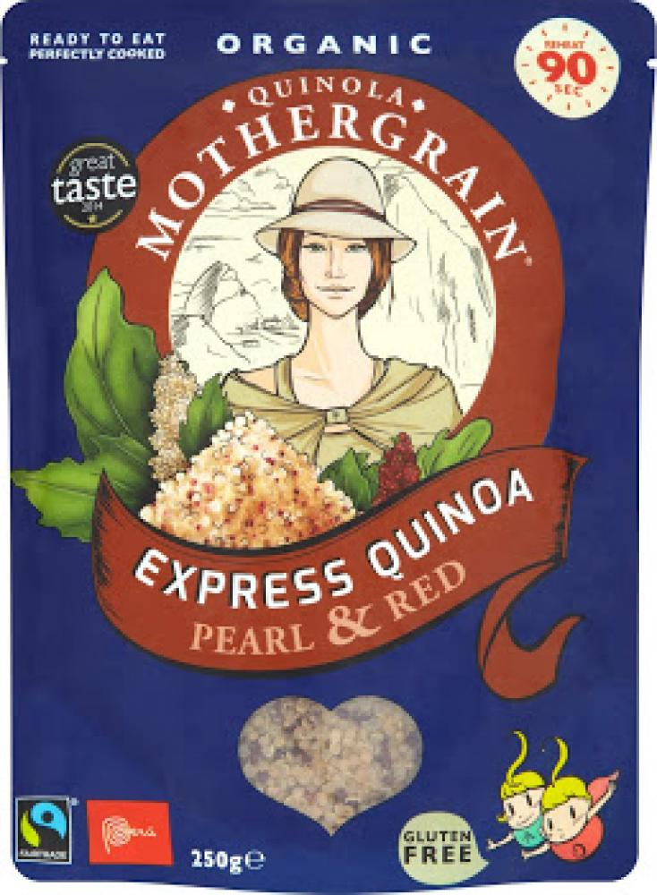 Quinola Mothergrain Organic Express Quinoa Pearl and Red 250g